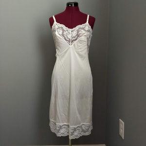 Vintage Intimates & Sleepwear - Vintage Henson Kickernick White Lace Full Slip
